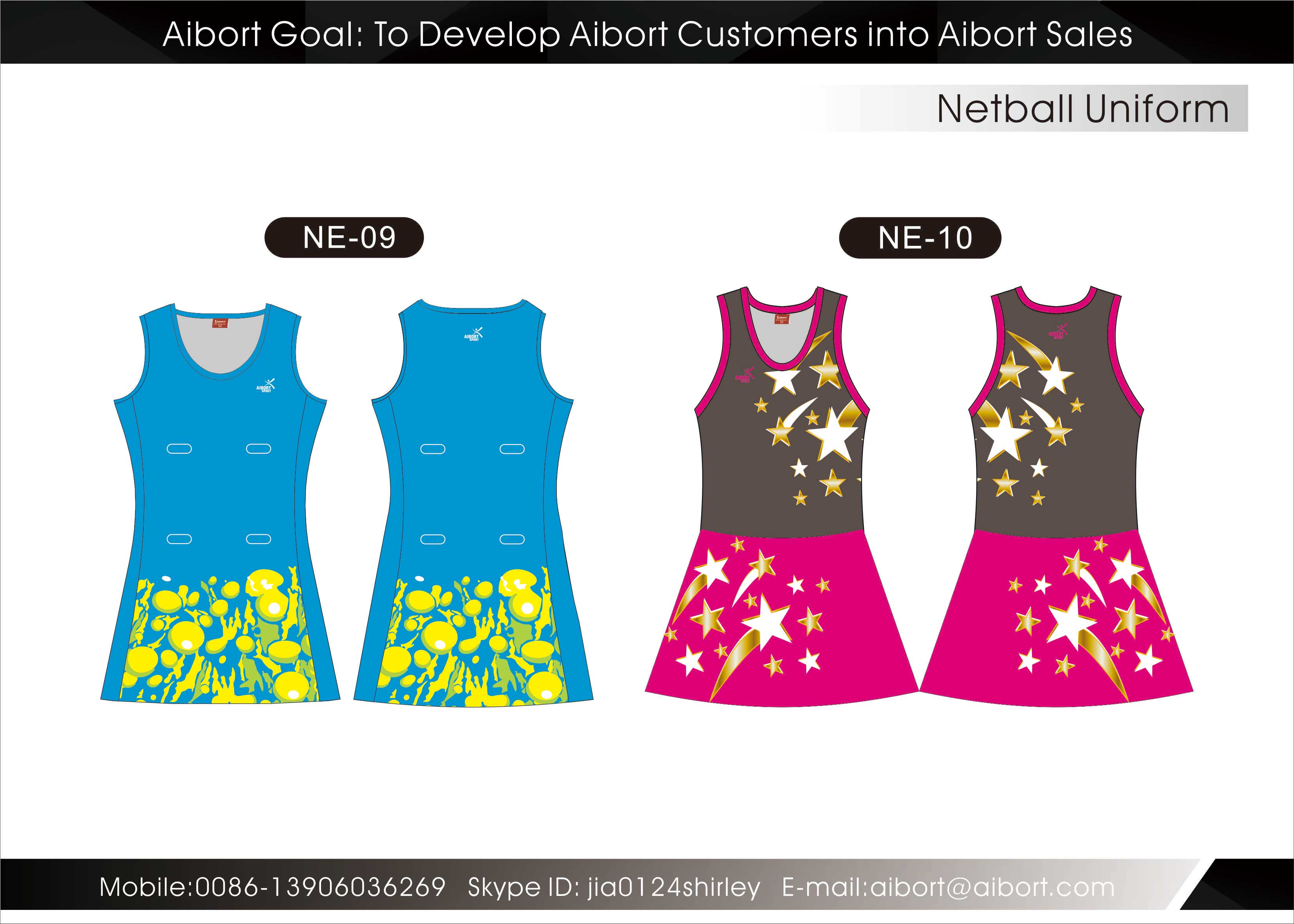design your own netball dress